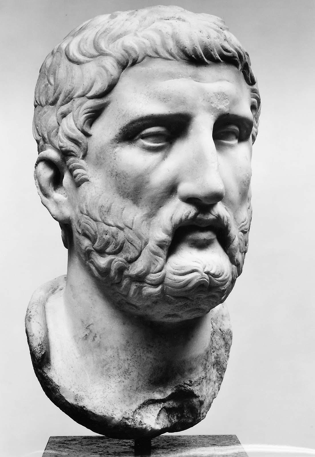 Portrait of a philosopher, probably Democritus or perhaps ...