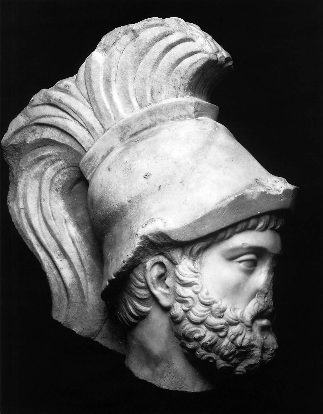 Helmeted Head Of The God Mars Ares Museum Of Fine Arts