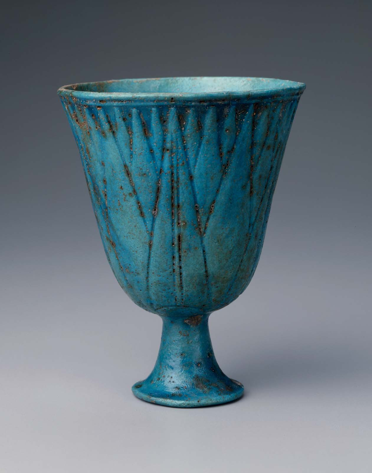 Blue Lotus Chalice Museum Of Fine Arts Boston