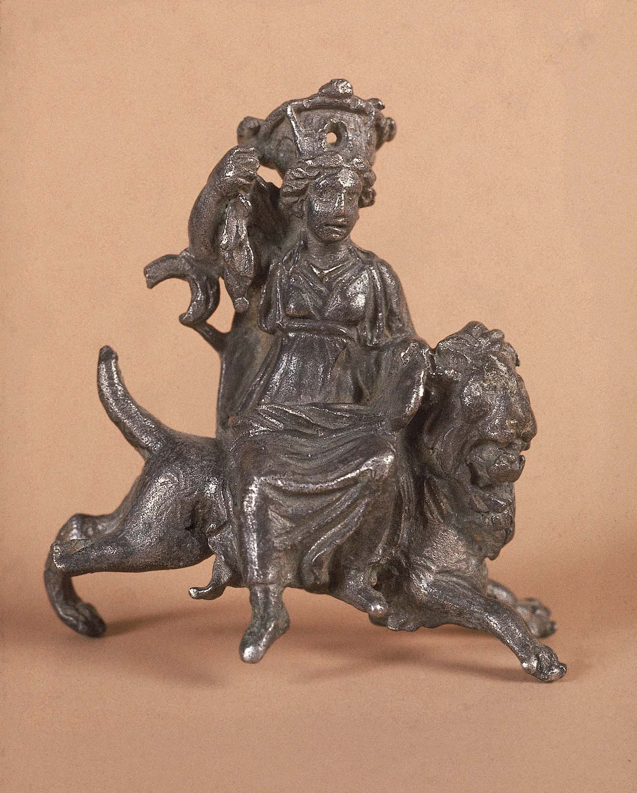 Statuette Of Cybelemagna Mater Wearing A Mural Crown And Riding A
