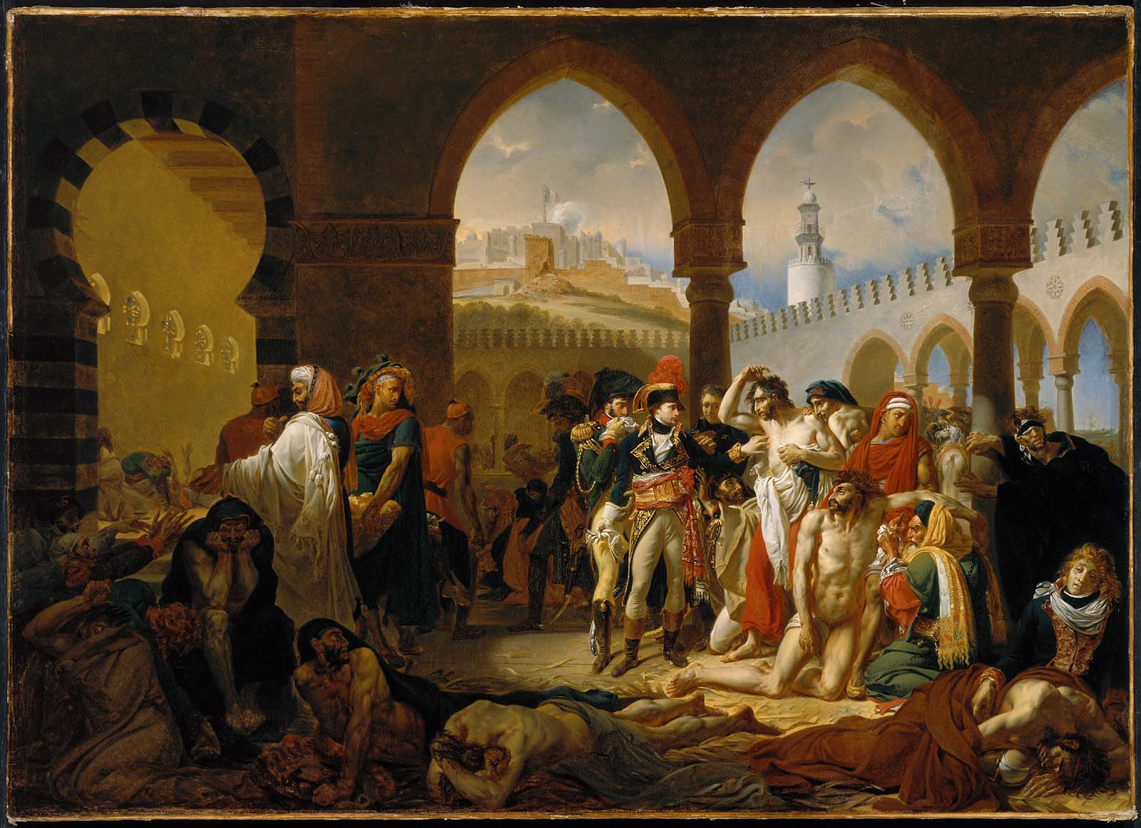 General Bonaparte Visiting The Plague-Stricken At Jaffa ...