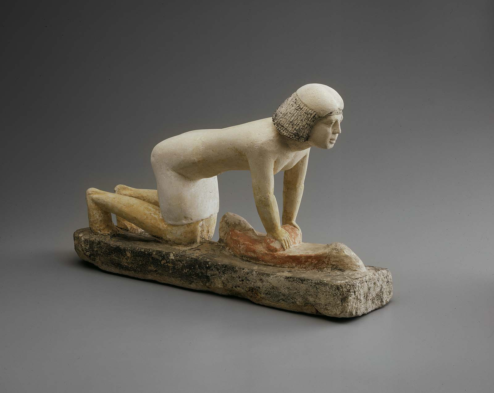 Serving Statuette Of A Woman Grinding Grain Museum Of