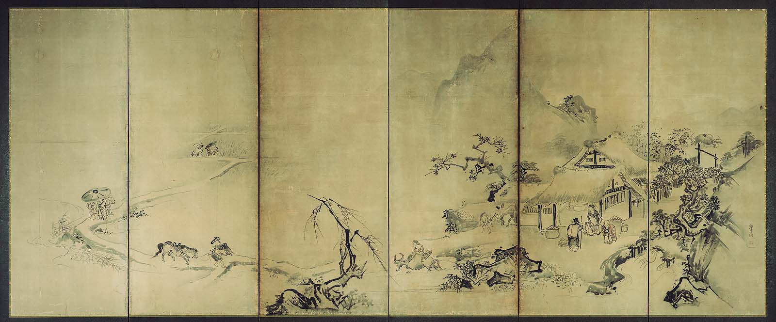 Rice and Silkworm Cultivation in the Four Seasons | Museum of Fine ...