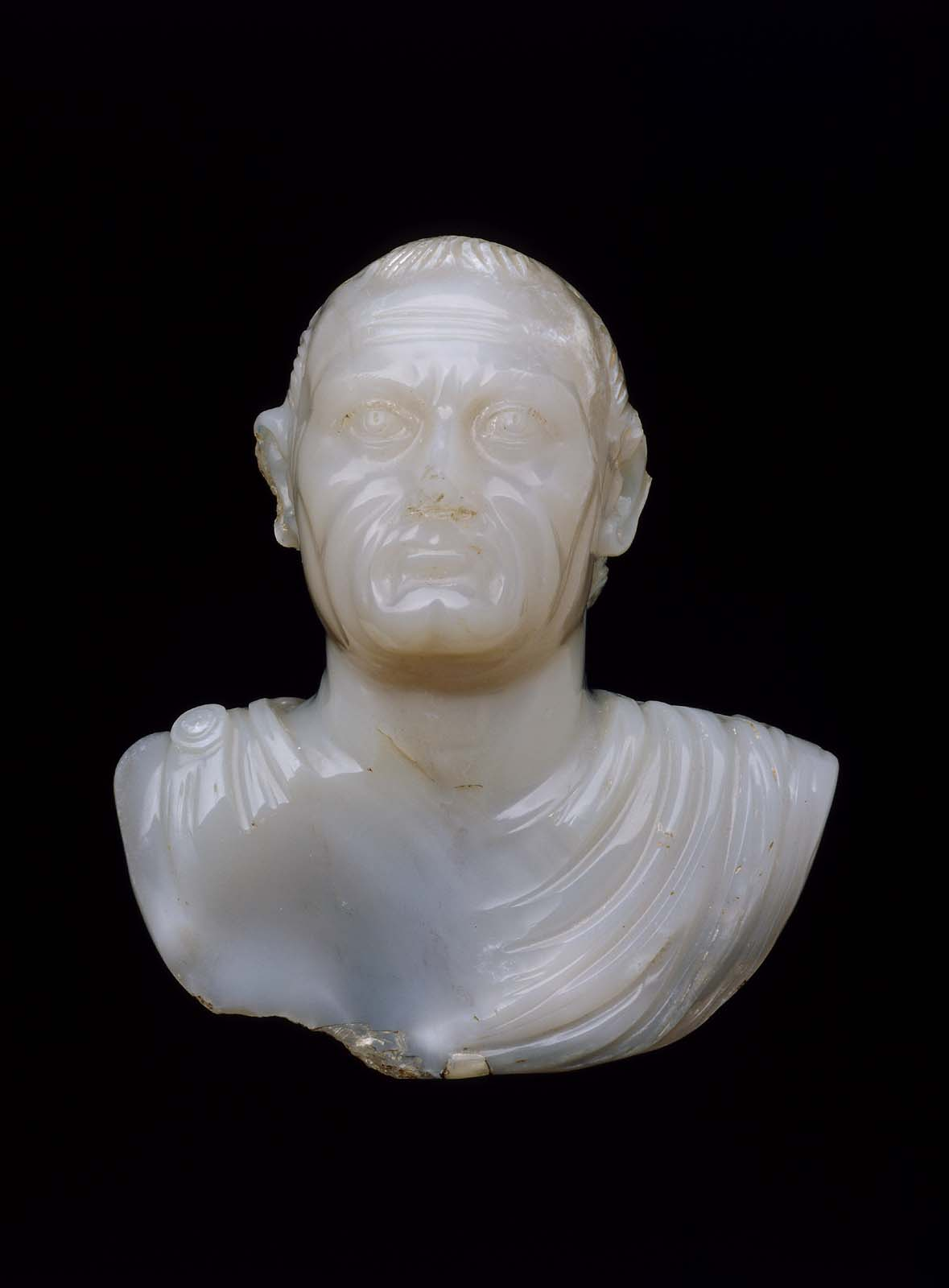 Portrait Bust Of Vespasian Recarved From A Bust Of Nero