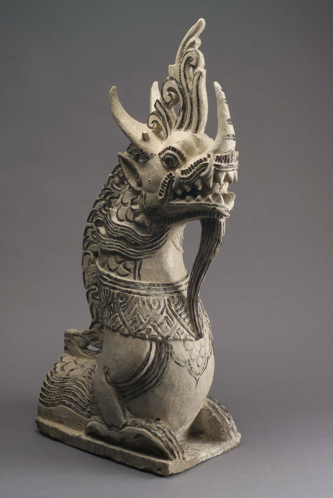 Roof Finial In The Shape Of A Mythological Creature