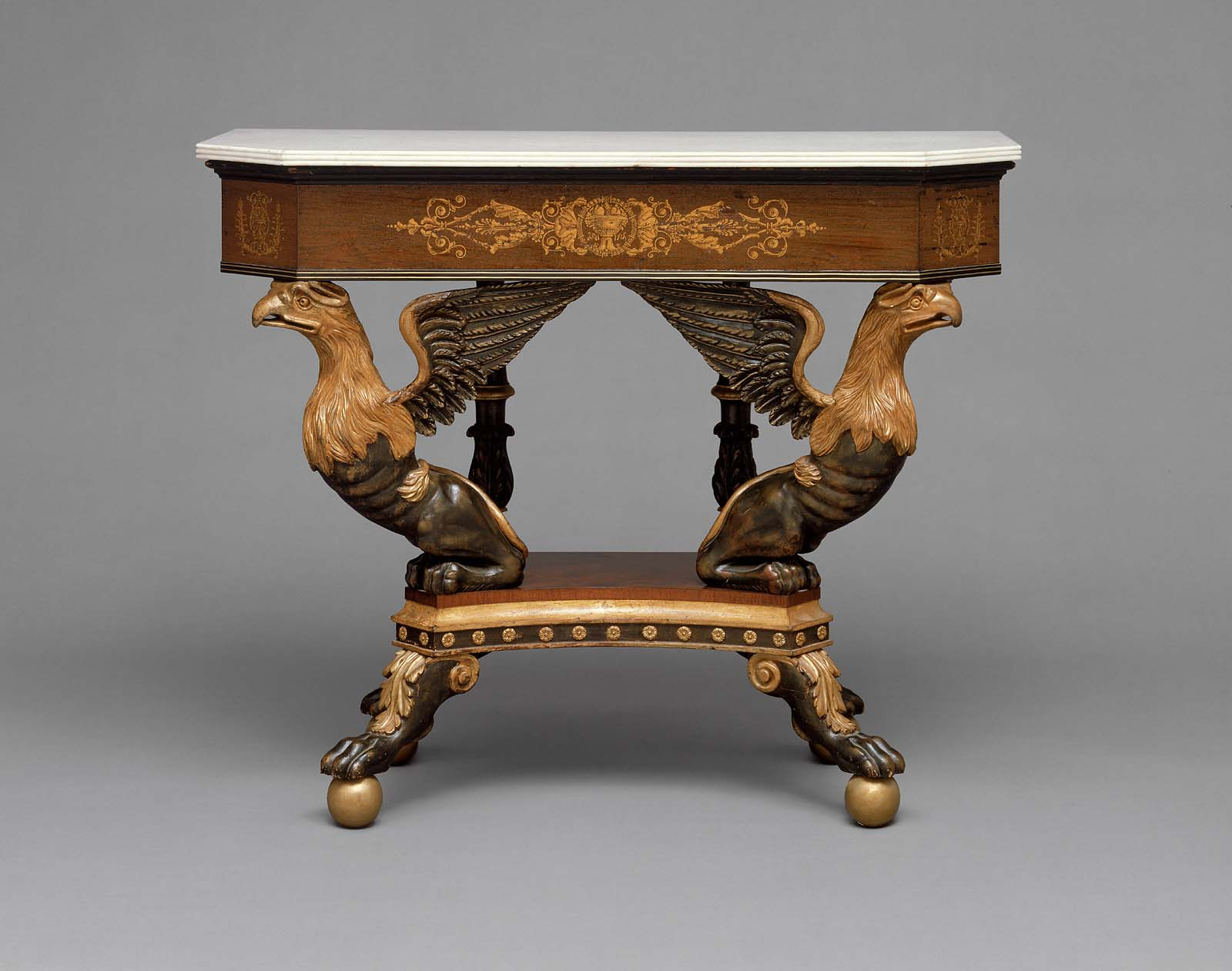 Square Pier Table With Canted Corners One Of A Pair