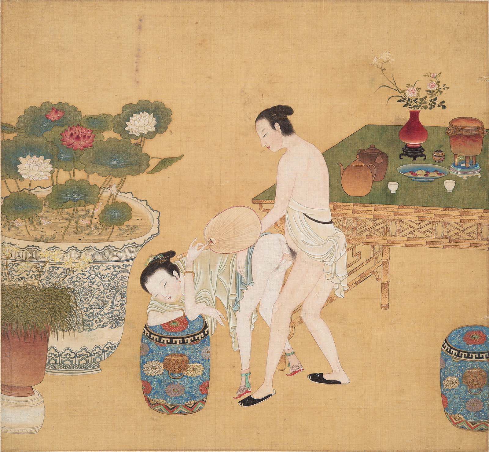 Erotic poems with japanese paintings - 3 part 3