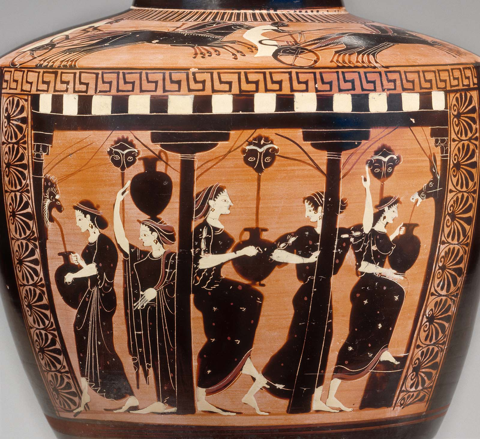 Water Jar Hydria With Women At The Fountain Museum Of