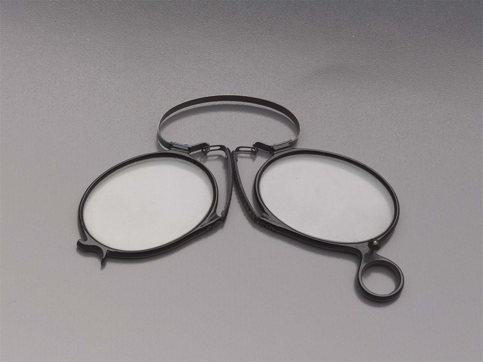 Folding Eyeglasses In Two Parts Glasses And Case Museum Of Fine Arts Boston