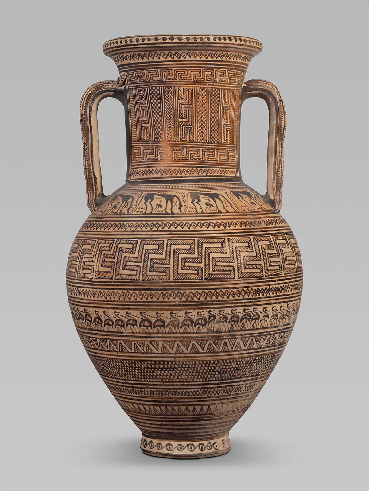 Two Handled Jar Amphora With Snakes On Handles Museum