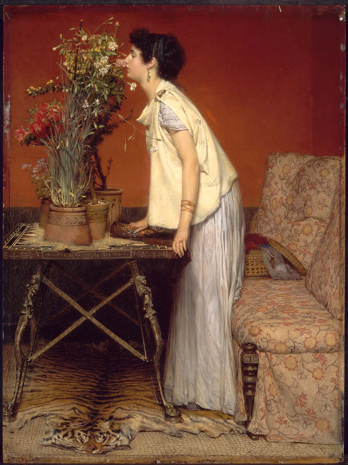 Woman And Flowers Museum Of Fine Arts Boston