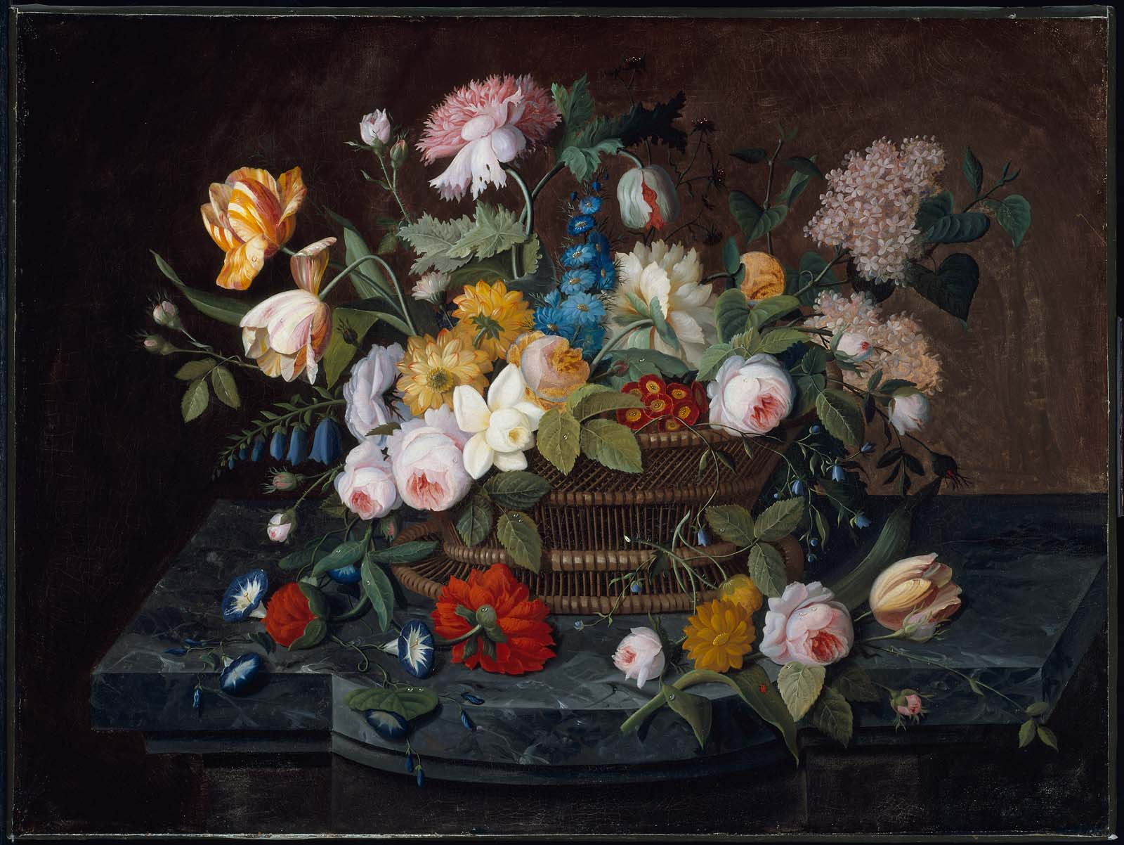 Still Life Flowers In A Basket Museum Of Fine Arts Boston
