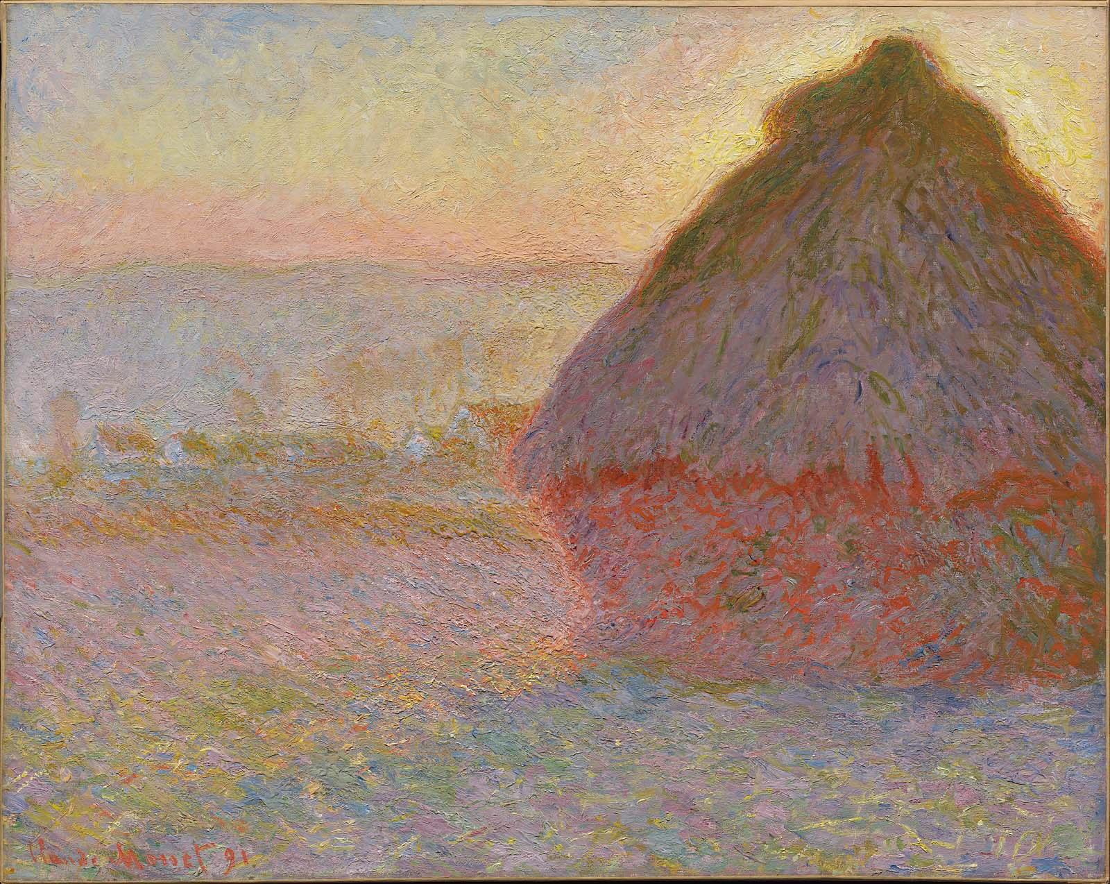 Grainstack sunset museum of fine arts boston for The art of painting