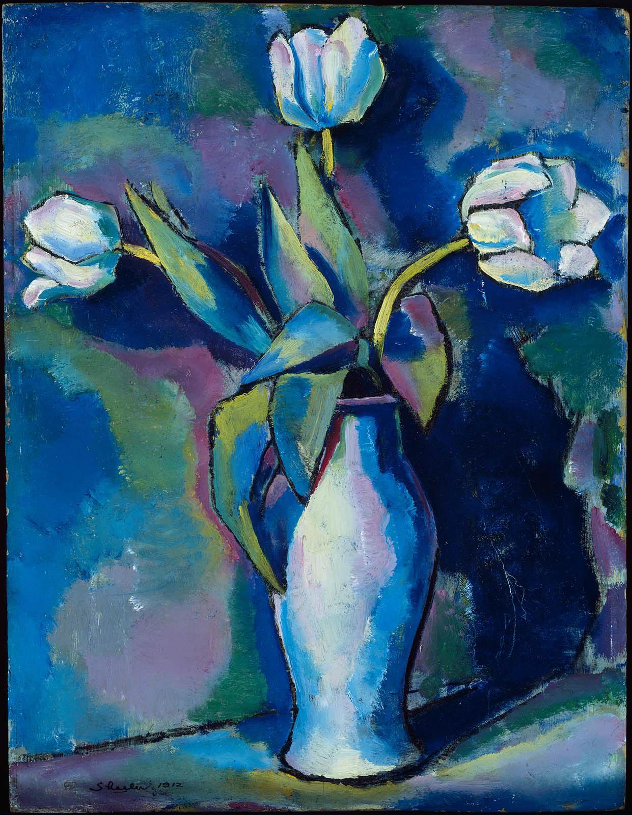 Three White Tulips Museum Of Fine Arts Boston