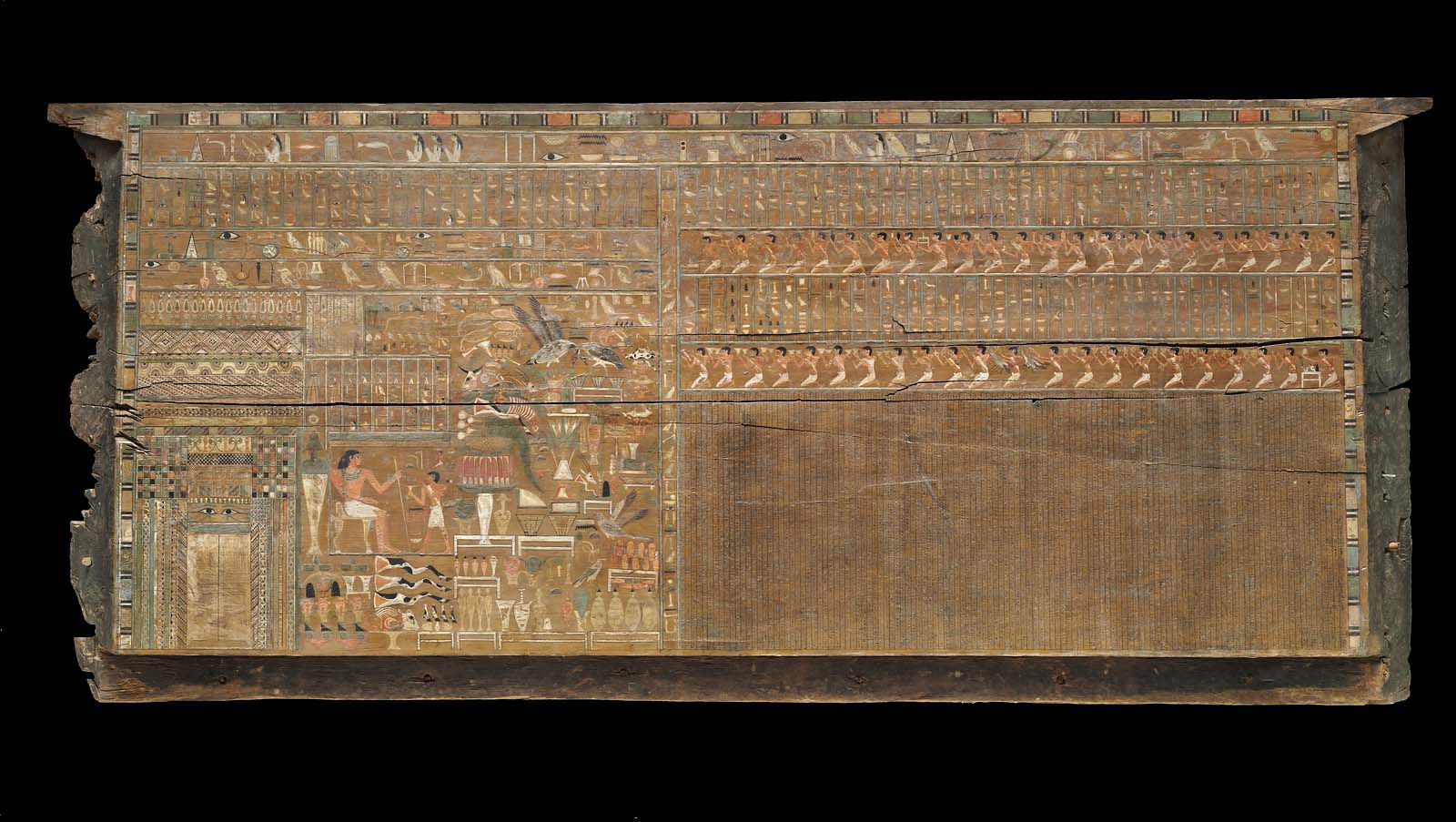 Front Side Panel Of Outer Coffin Of Djehutynakht Museum