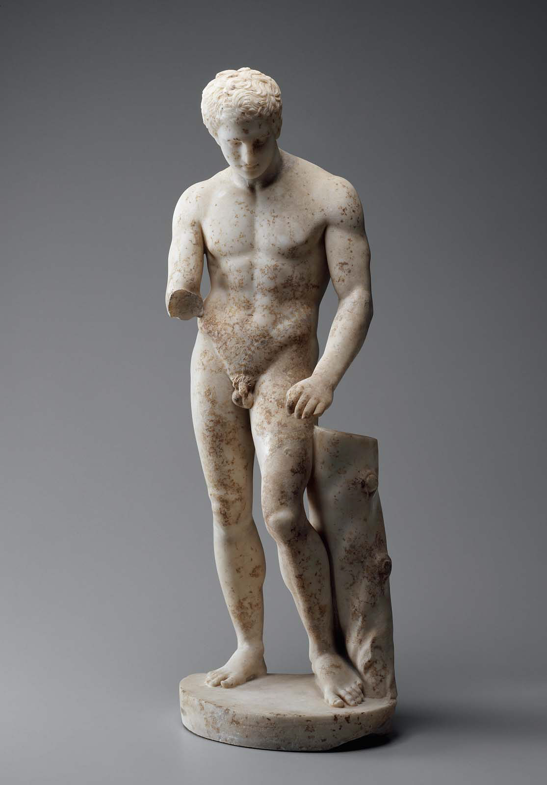 Athlete with a scraper (Apoxyomenos). Roman Imperial Period