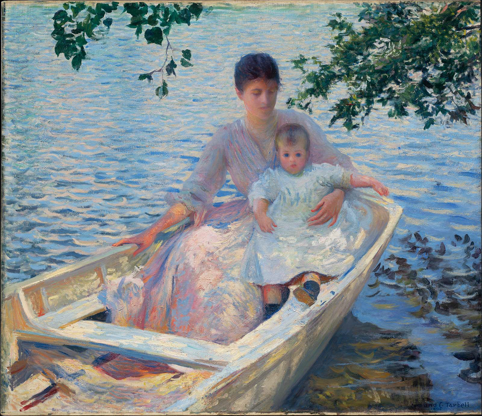 Mother And Child In A Boat Museum Of Fine Arts Boston
