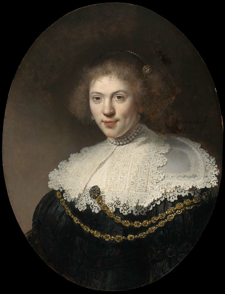 Portrait Of A Woman Wearing Gold Chain