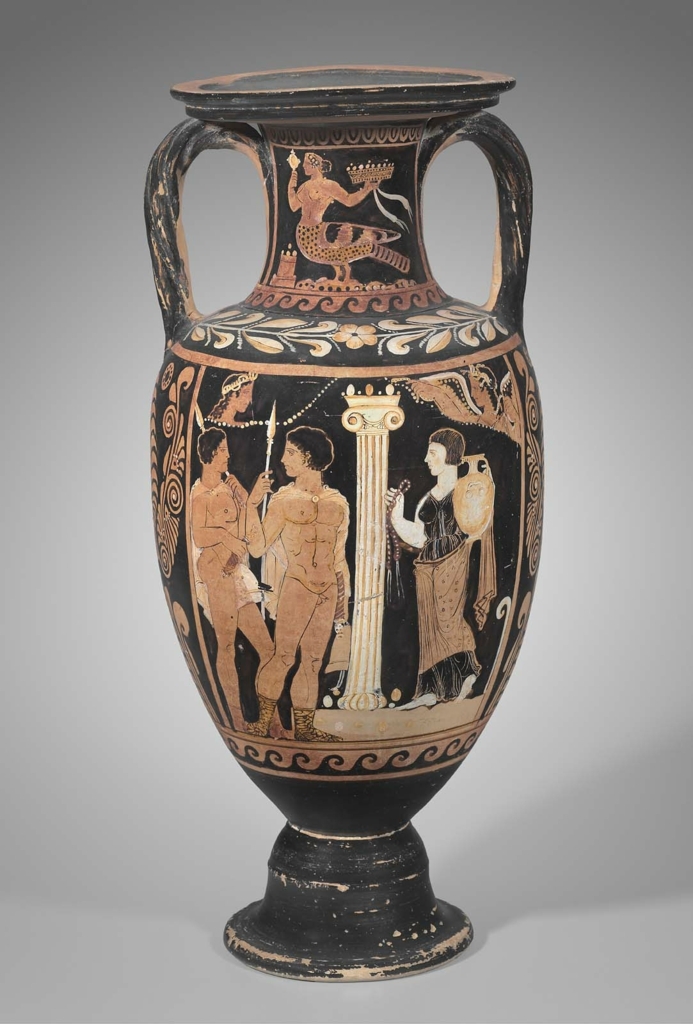 Storage Jar Neck Amphora With Orestes And Elektra At The Tomb Of