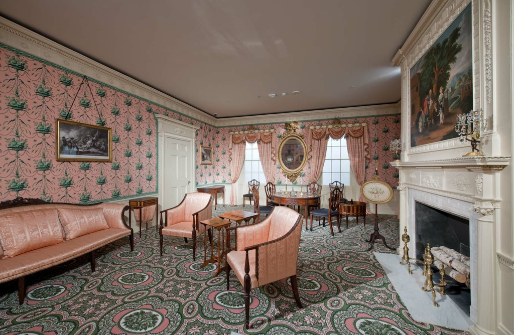Interior Finish From The Oak Hill Parlor Museum Of Fine Arts Boston Simple Parlor Interior Design Property
