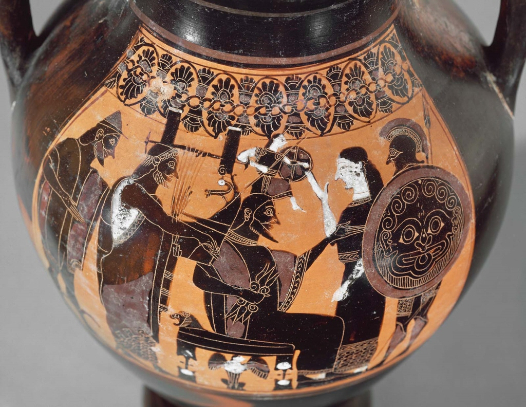 Two Handled Jar Amphora Depicting The Birth Of Athena Museum Of Fine Arts Boston