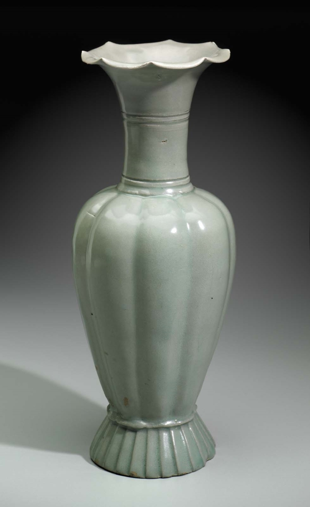 Melon Shaped Vase With Flower Shaped Mouth Museum Of Fine Arts Boston