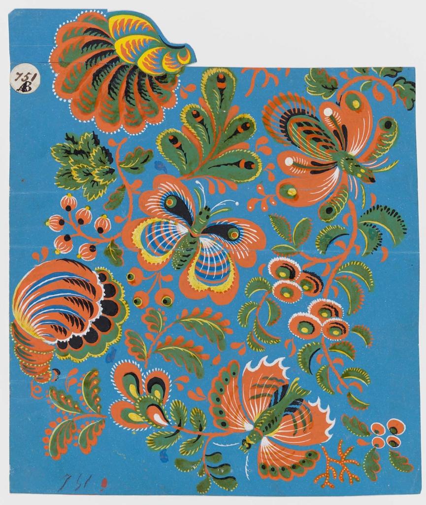 Design for a textile | Museum of Fine Arts, Boston