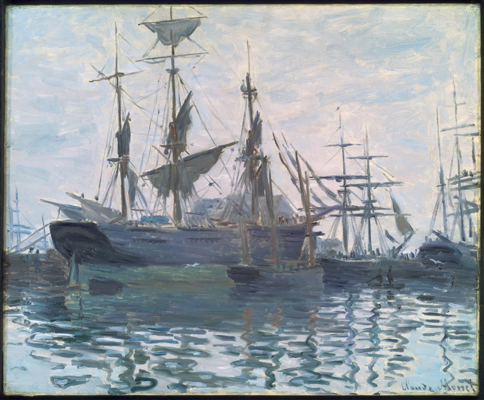 Claude Monet Museum Of Fine Arts Boston Parts A Tall Ship For Pinterest Ships In Harbor