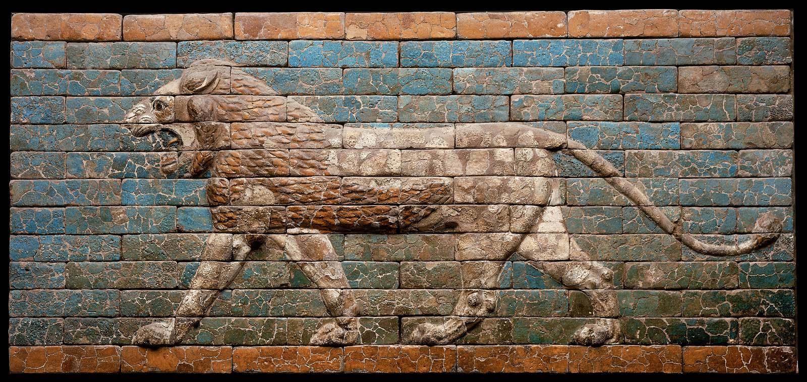 Striding Lion Museum Of Fine Arts Boston