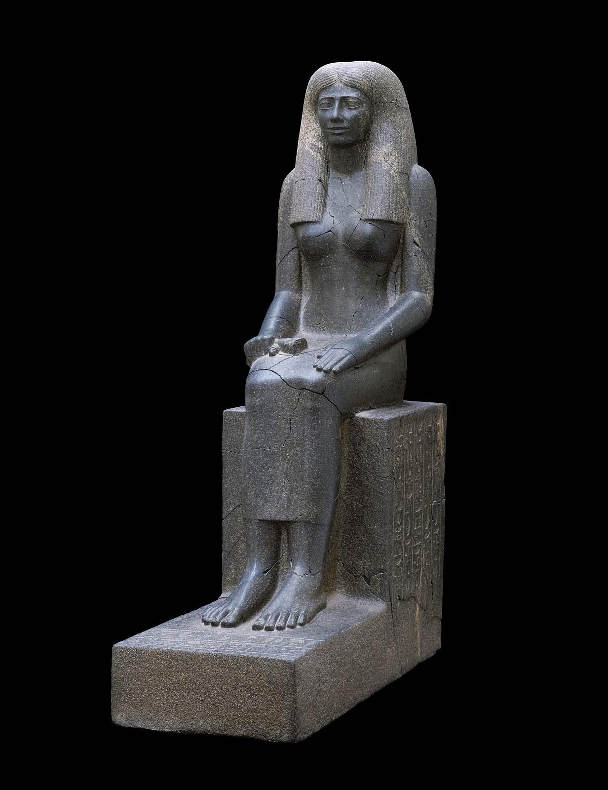 Statue Of Lady Sennuwy Museum Of Fine Arts Boston