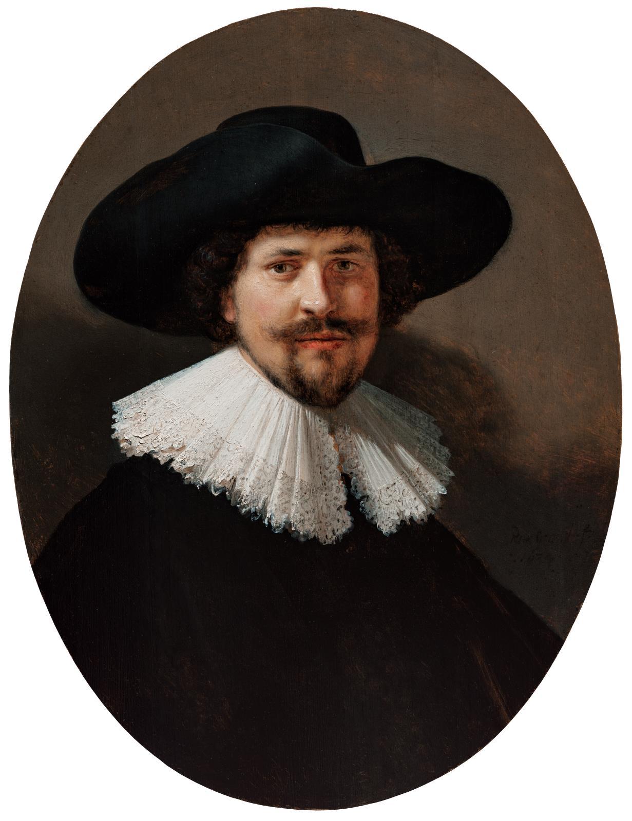 74de42ce6d253 Portrait of a Man Wearing a Black Hat