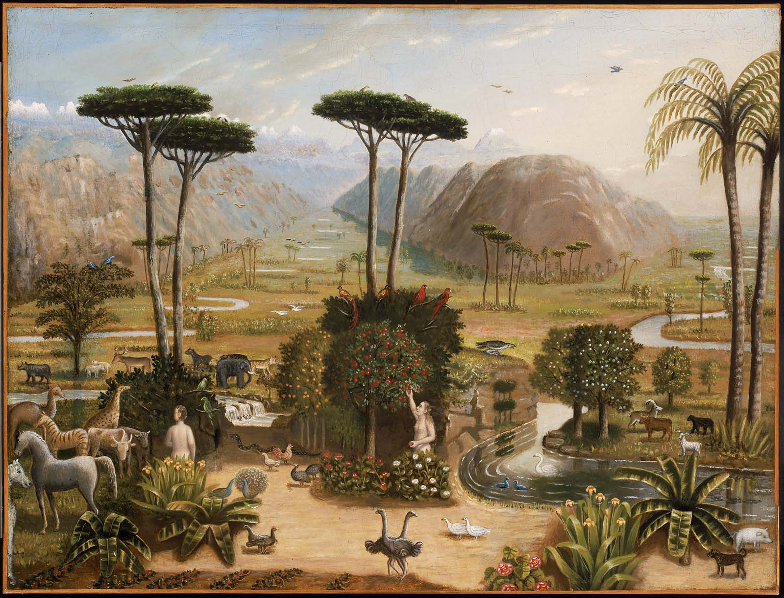 The garden of eden museum of fine arts boston for Garden painting images