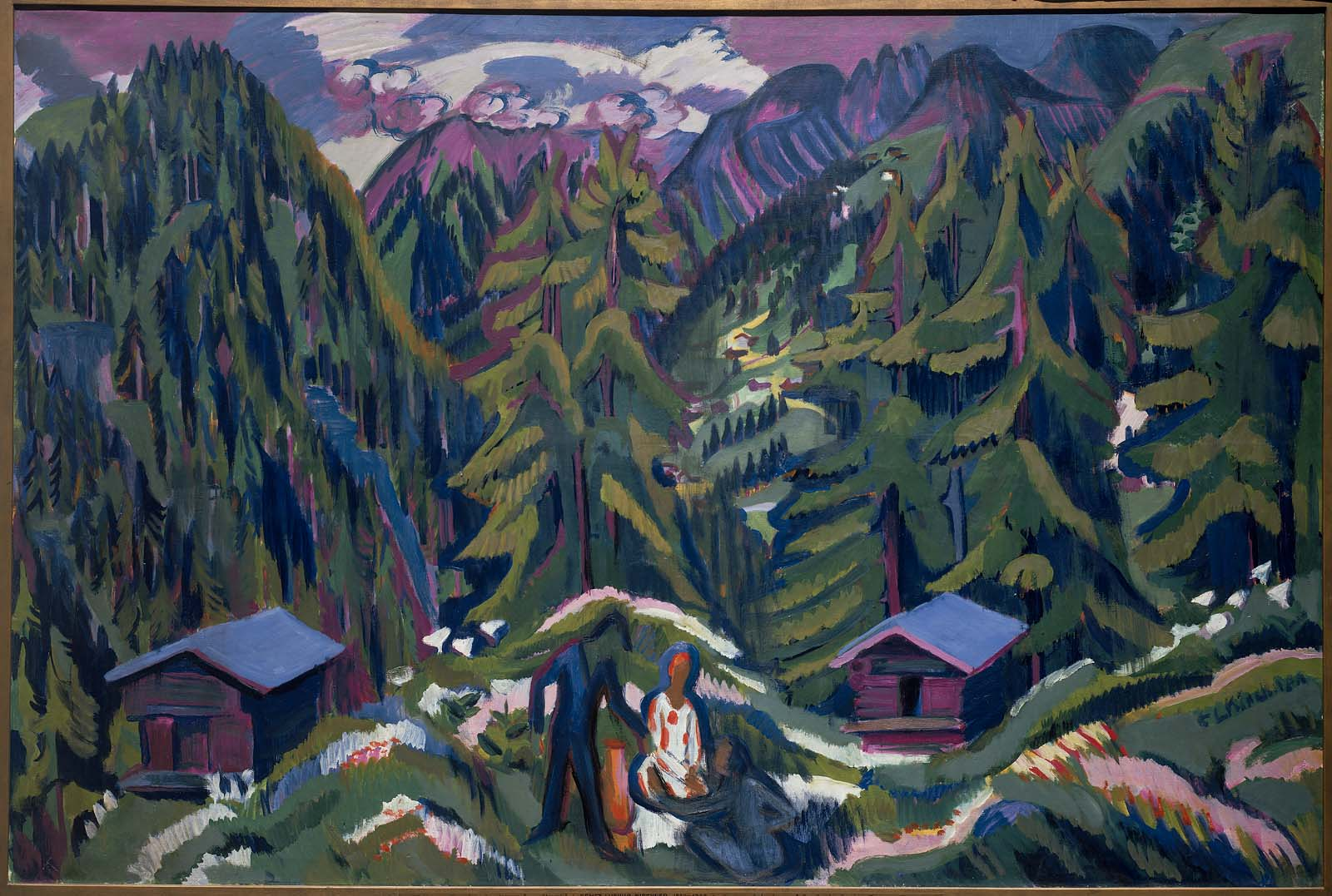 Mountain Landscape From Clavadel Museum Of Fine Arts Boston