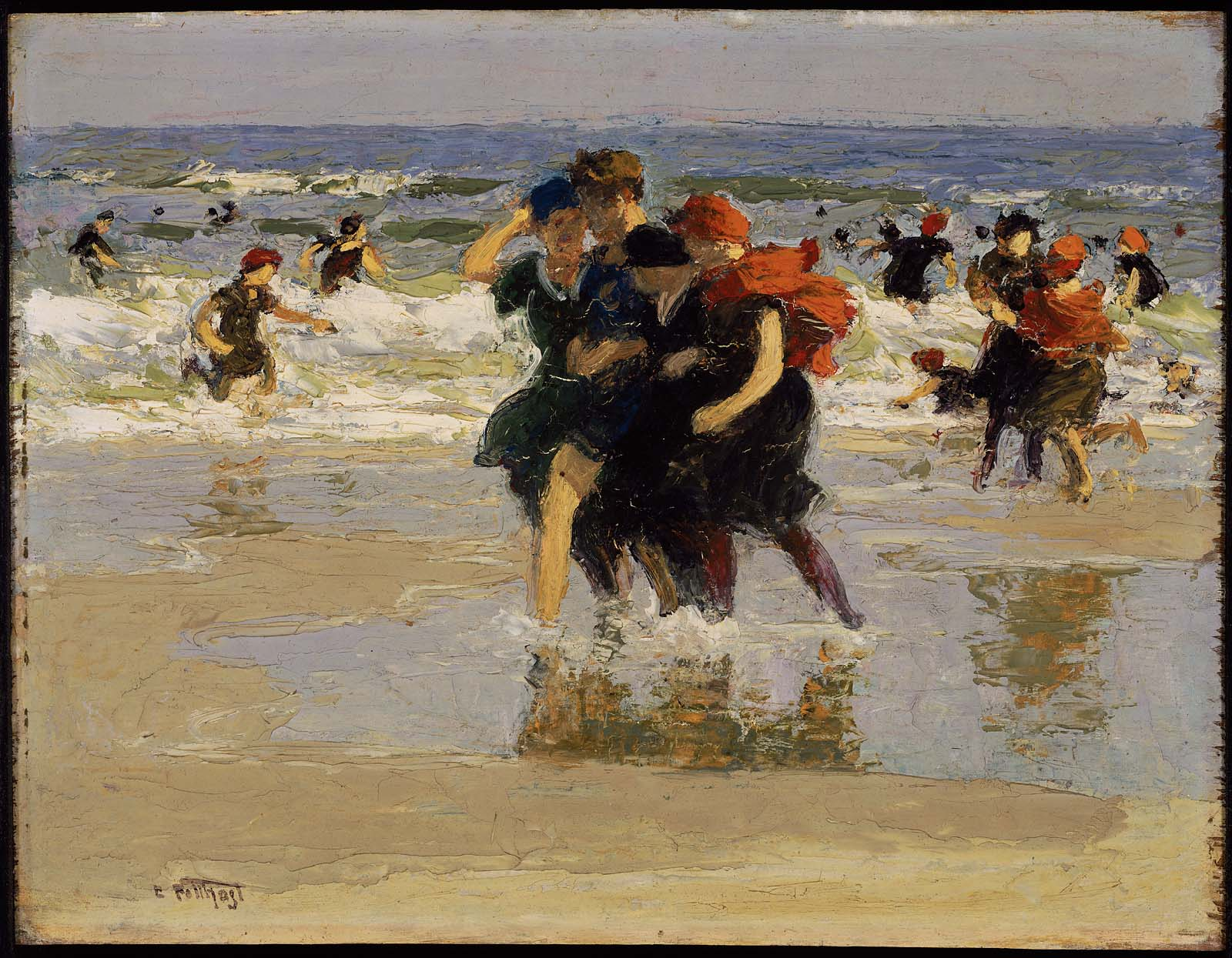 Famous Impressionist Painting Of Women On Beach