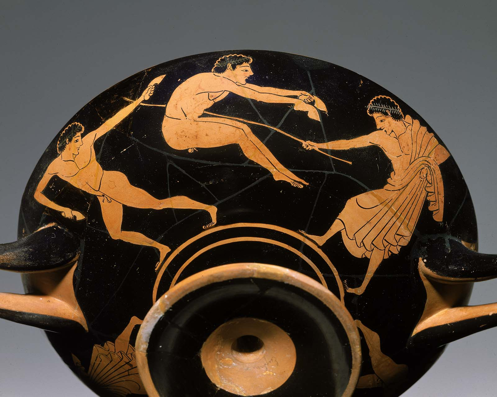 Drinking Cup Kylix Depicting Pentathletes Museum Of