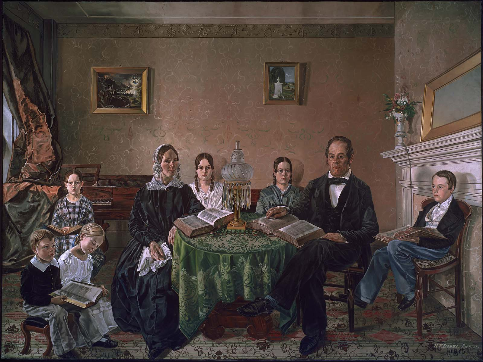 The Reverend John Atwood And His Family Museum Of Fine