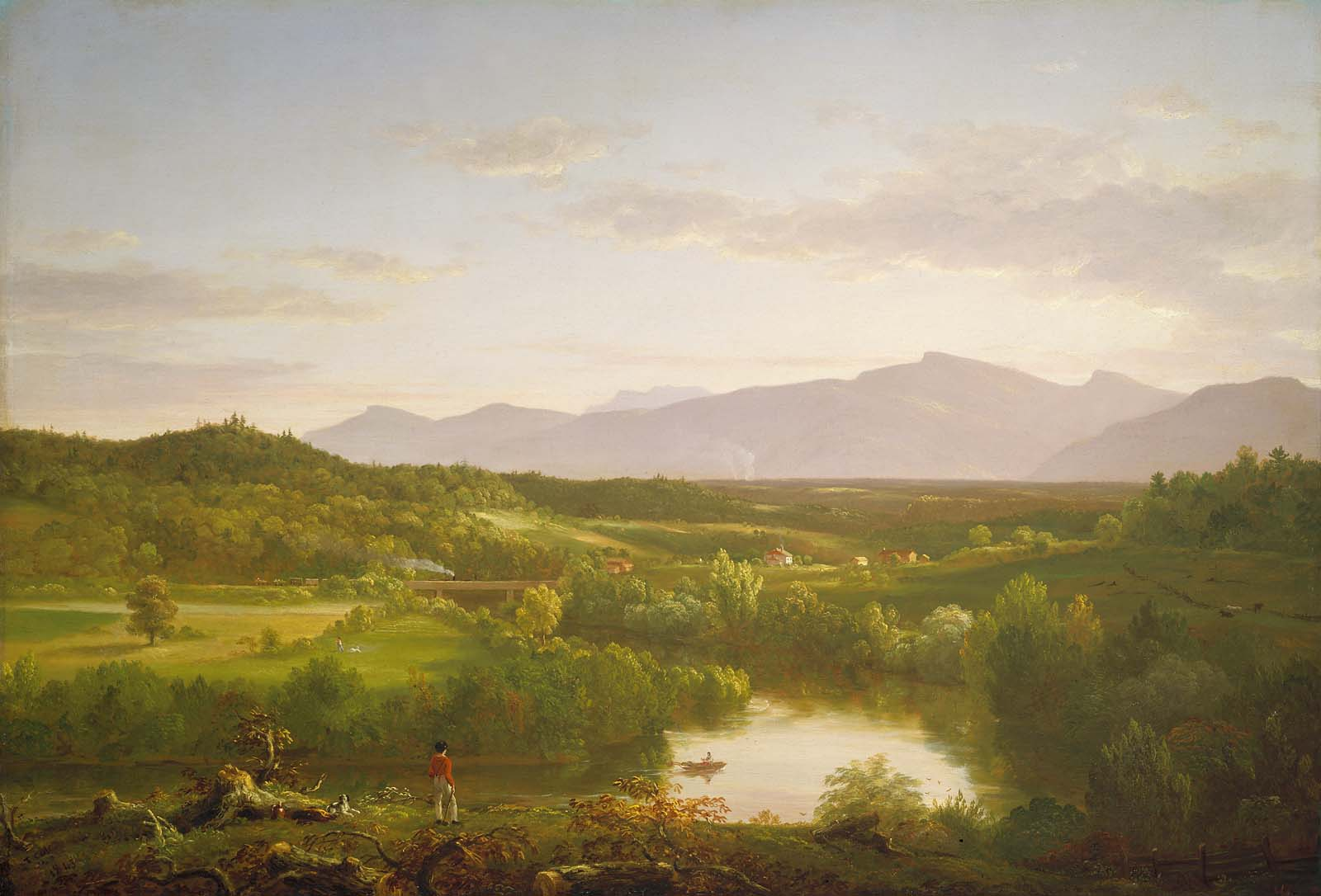 Image result for river in the catskills thomas cole