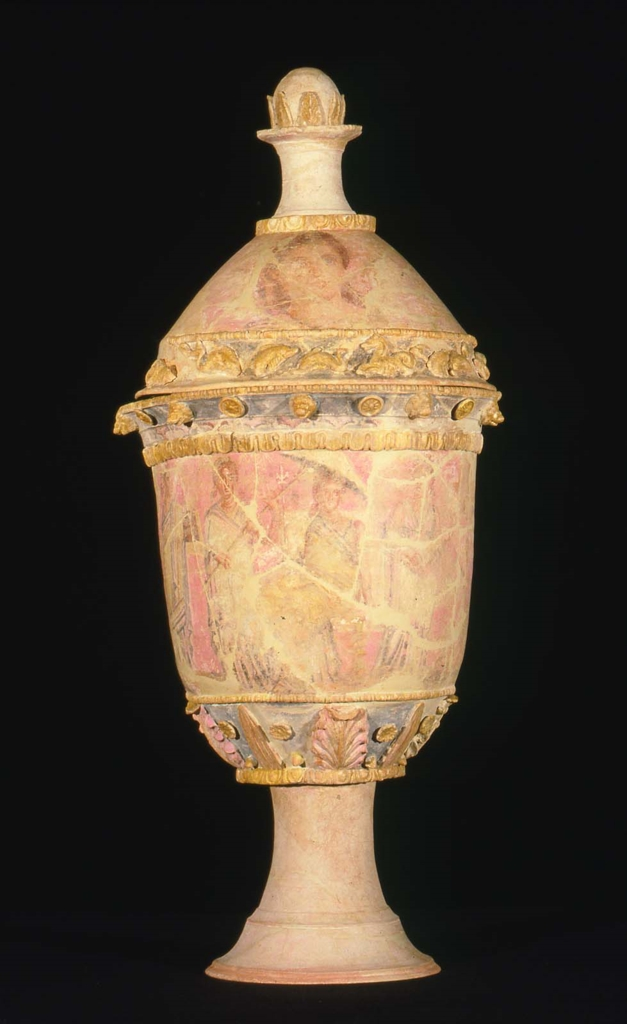 Funerary Cinerary Urn In The Form Of A Mixing Bowl Bell Krater