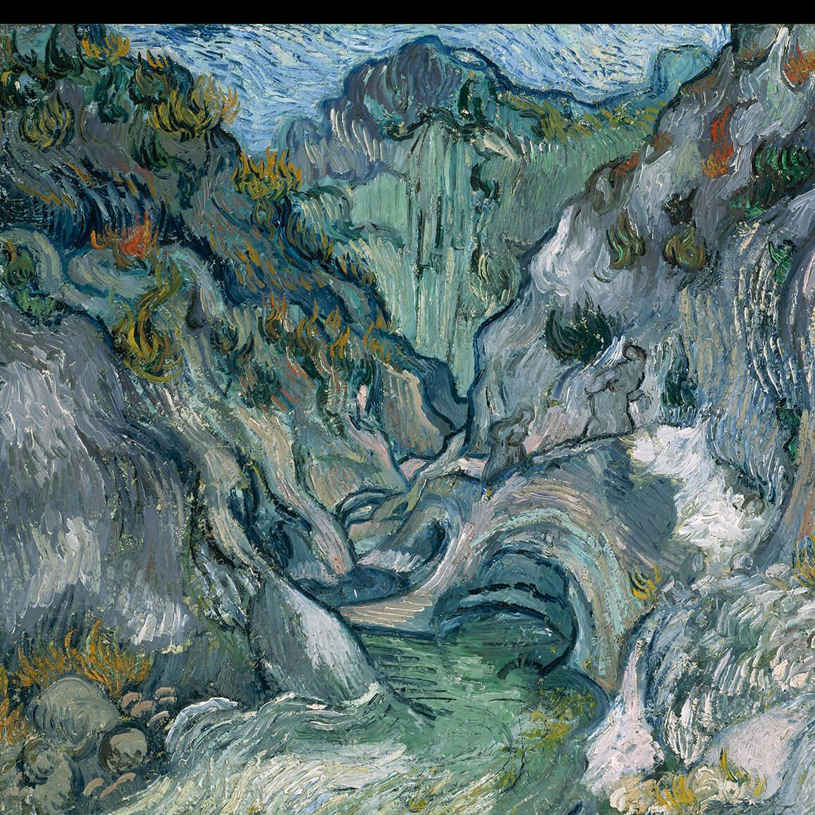 Detail of Vincent Van Gogh's painting, Ravine