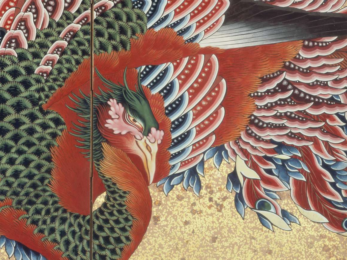 Katsushika Hokusai, Phoenix, 1835. William Sturgis Bigelow Collection. 11.7433