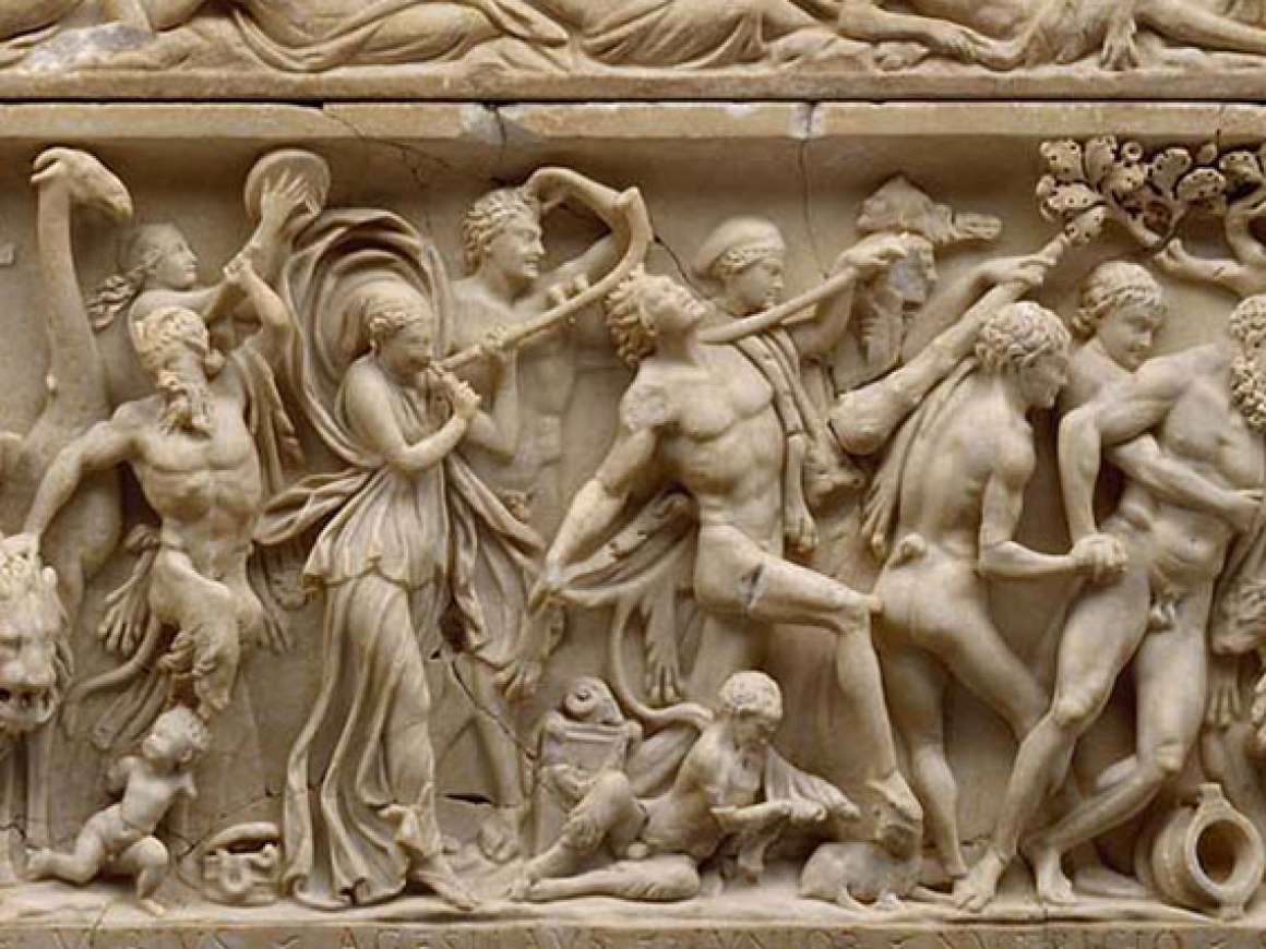 Sarcophagus with triumph of Dionysos (detail), about 215–225
