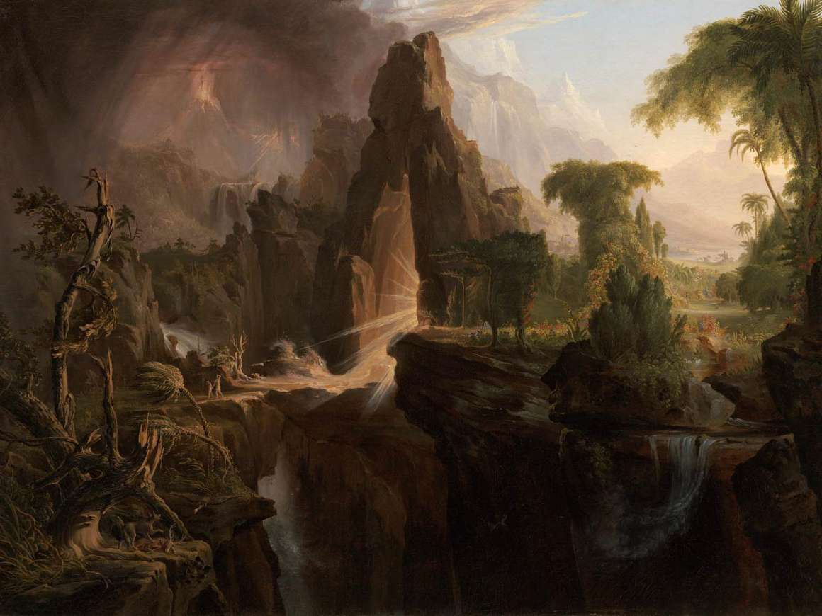 Thomas Cole's painting, Expulsion from the Garden of Eden, 1828