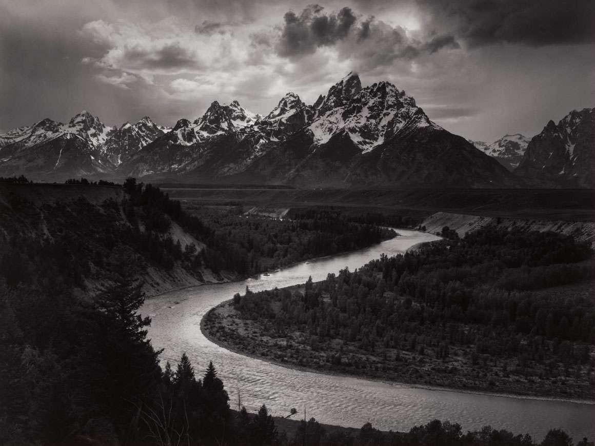 Ansel Adams's photograph, The Tetons and Snake River, Grand Teton National Park, Wyoming