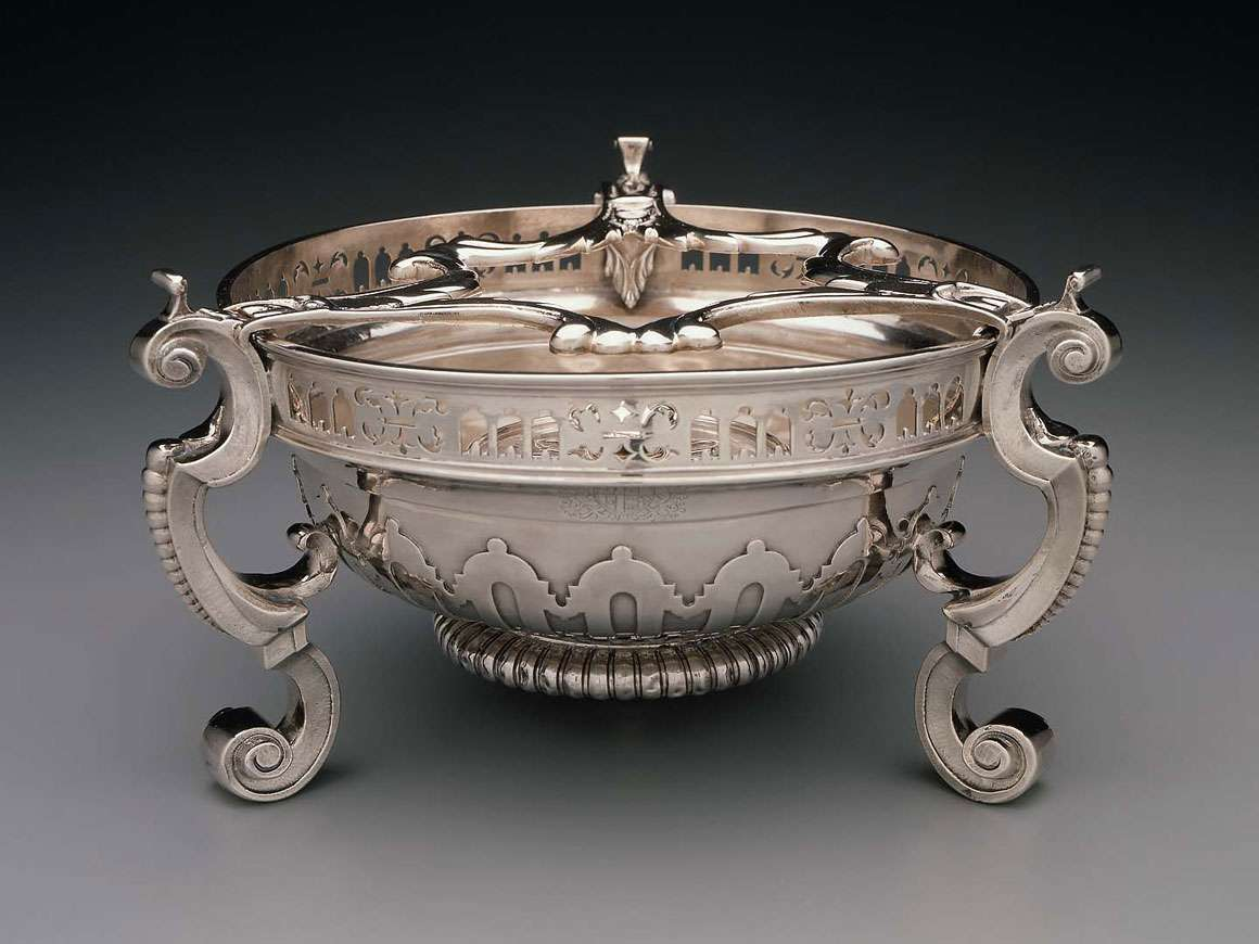 English silver chafing dish