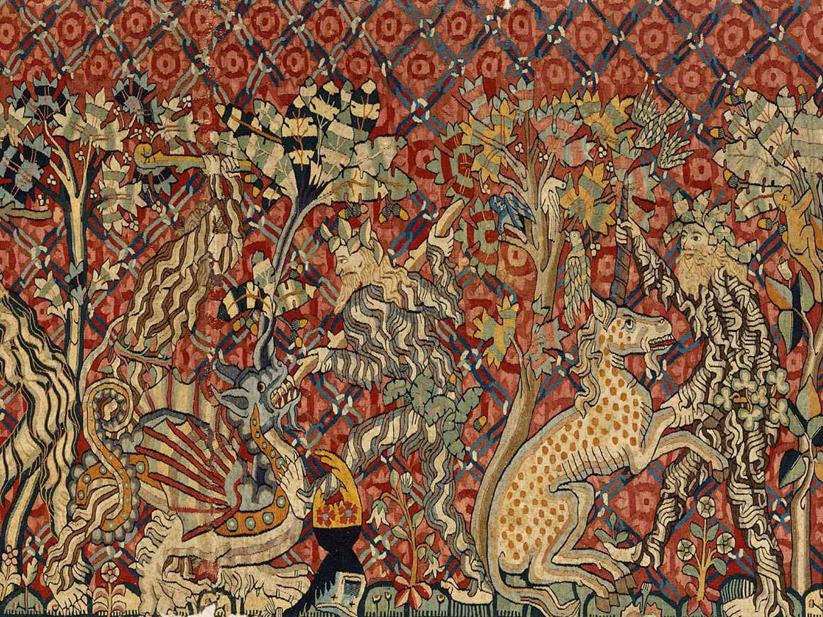 Detail of tapestry: Wild Men and Moors
