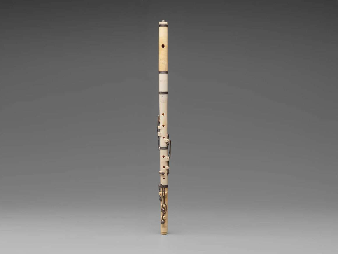Flute, labeled Drouet
