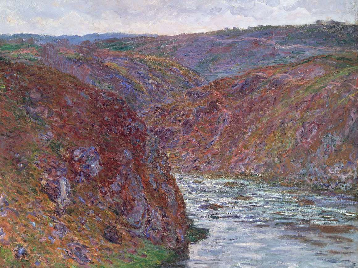Claude Monet, Valley of the Creuse (Gray Day), 1889. Denman Waldo Ross Collection. 06.115