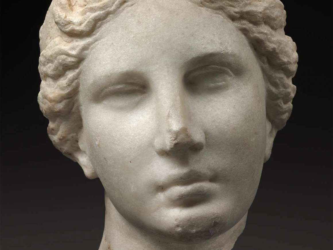 Head of Aphrodite, about 330–300 B.C. Francis Bartlett Donation of 1900. 03.743