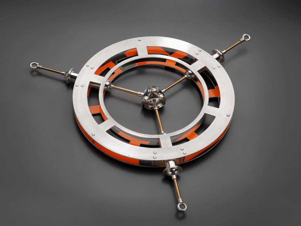 Boris Bally's silver and brass adornment, Fixator Armform