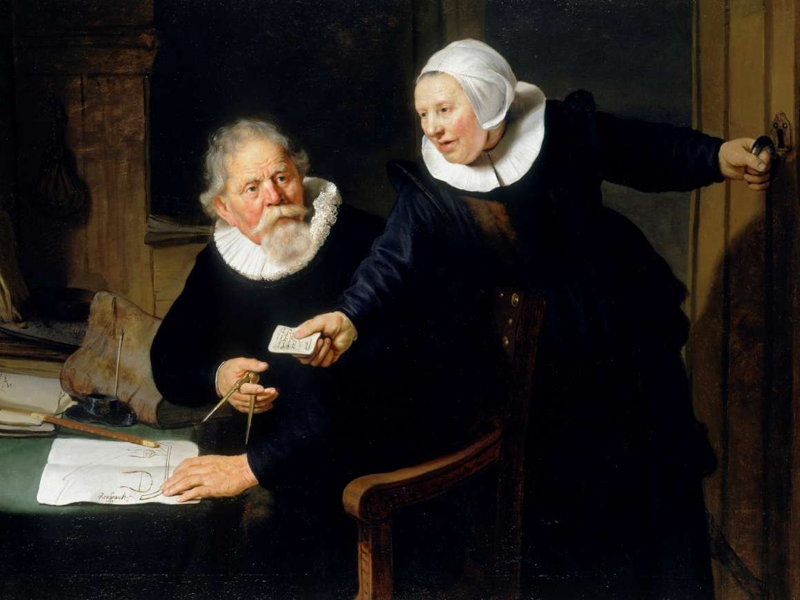 The Shipbuilder and his Wife, Rembrandt